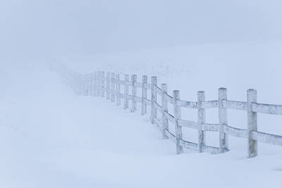 Photograph - Fence In The Fog by Tim Kirchoff