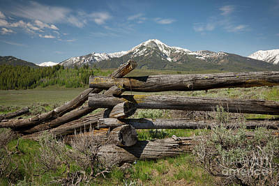 Photograph - Fence Juncture by Idaho Scenic Images Linda Lantzy