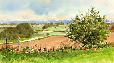 Painting - Fence Line by Phyllis Martino