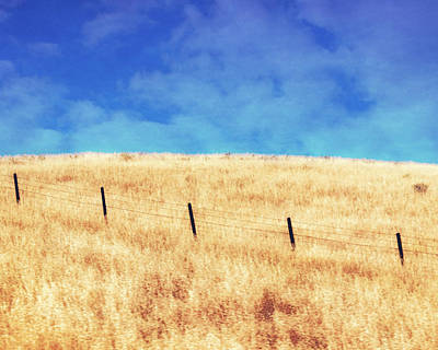 Photograph - Fence Line by Timothy Bulone