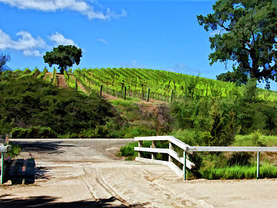 Winery Digital Art - Fence Me In by Patricia Stalter