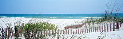 Fence On The Beach, Bon Secour National Art Print by Panoramic Images