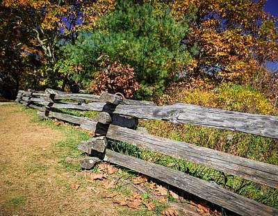 Wa- Ya Photograph - Fence On Wayah Bald by Lisa Bell
