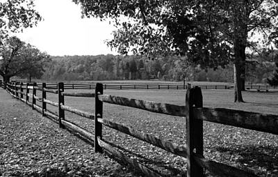 Photograph - Fence Perspective by Kristin Elmquist