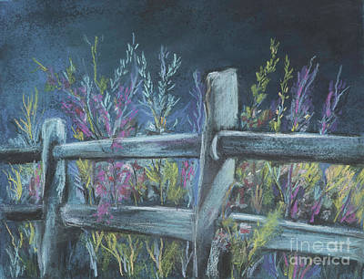Painting - Fence Post And Flowers by Pati Pelz