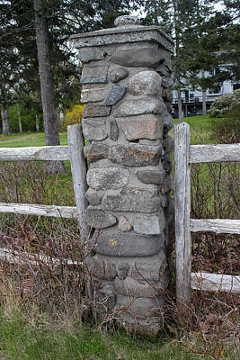 Photograph - Fence Post Bar Harbor by Mary Bedy