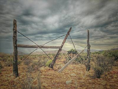 Photograph - Fence Post Blues  by Mark Ross