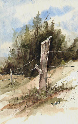 Painting - Fence Post by Sam Sidders