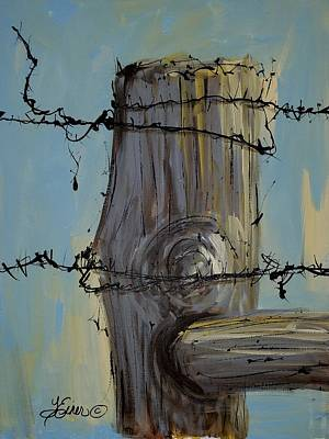 Painting - Fence Post by Terri Einer