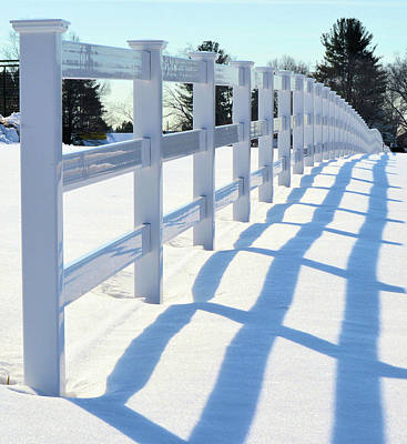 Photograph - Fence Shadow by Charles HALL