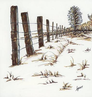 Walnut Farm Art Print by Krista Payne