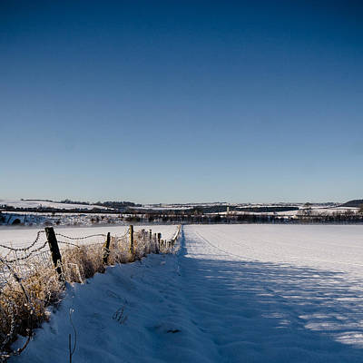 Winter Landscapes Photograph - Fence by Chris Dale