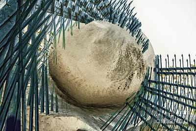 Digital Art - Fenced Ball by Georgianne Giese