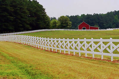 Photograph - Fenced Farm by Karol Livote