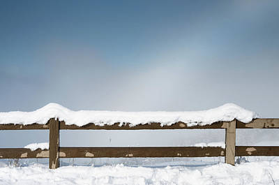 Photograph - Fenced In Snow by Greg Nyquist