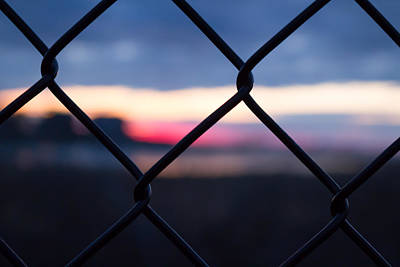Photograph - Fenced In Sunrise by Kirkodd Photography Of New England