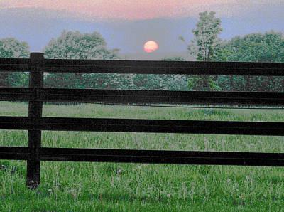 Fenced Sunset 2 Art Print by Brian Foxx