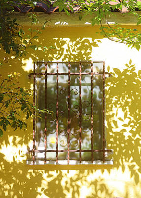 Photograph - Fenced Yellow Window by Viktor Savchenko