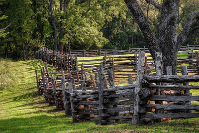 Photograph - Fenceline by James Barber