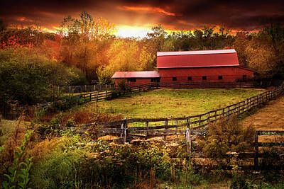 Photograph - Fences At Sunset by Debra and Dave Vanderlaan