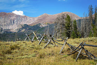 Photograph - Fences Into The Rockies by Dawn Romine