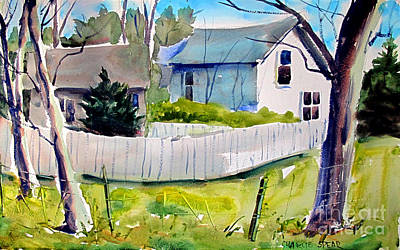 Painting - Fences Make Good Neighbors Framed Complete by Charlie Spear