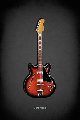 Guitar Photograph - Fender Coronado by Mark Rogan