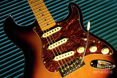 Fender Guitar Art Print by Bob Christopher