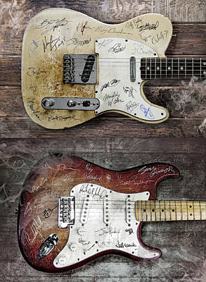Bruce Springsteen Digital Art - Fender Guitars Fantasy by Mal Bray