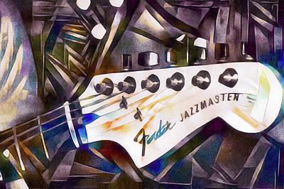 Mixed Media - Fender Jazzmaster by Susan Maxwell Schmidt
