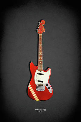 Fender Mustang 70 Print by Mark Rogan