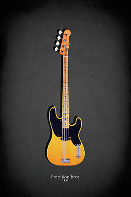 Guitar Photograph - Fender Precision Bass 1951 by Mark Rogan