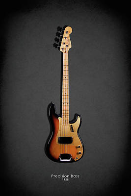 Photograph - Fender Precision Bass 58 by Mark Rogan