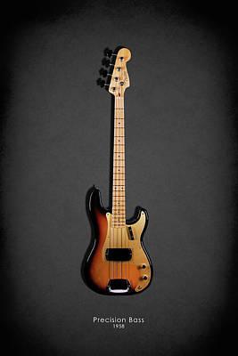 Photograph - Fender Precision Bass 58 by Mark Rogan
