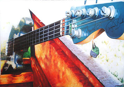 Serigraph Photograph - Fender Roscoe Beck by Carola Moreno