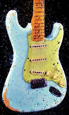 Fender Stratocaster - 02 Art Print by Andrea Mazzocchetti