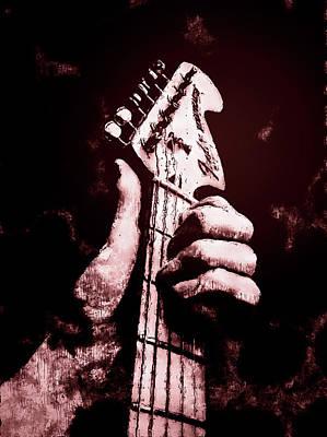 Fender Stratocaster - 06  Art Print by Andrea Mazzocchetti