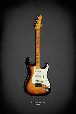 Fender Stratocaster 54 Art Print by Mark Rogan