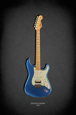 Guitar Photograph - Fender Stratocaster 57 by Mark Rogan