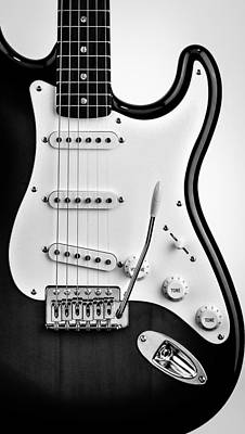 Photograph - Fender Stratocaster Black And White by Andrea Mazzocchetti