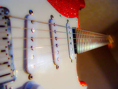 Photograph - Fender Stratocaster Red Sparkle by Guitar Wacky