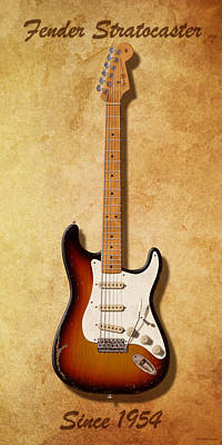 Eric Clapton Digital Art - Fender Stratocaster Since 1954 by WB Johnston