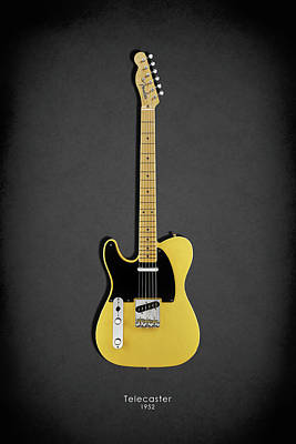 Electric Guitar Photograph - Fender Telecaster 52 by Mark Rogan