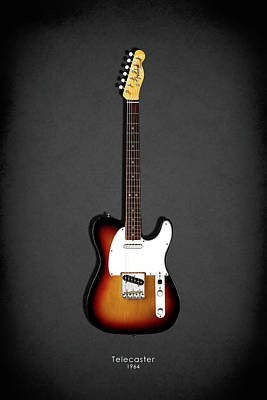 Fender Photograph - Fender Telecaster 64 by Mark Rogan