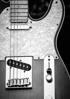 Photograph - Fender Telecaster Monochrome by Andrea Mazzocchetti