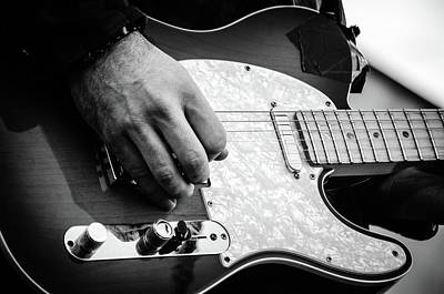 Photograph - Fender Telecaster On Stage 2 by Andrea Mazzocchetti