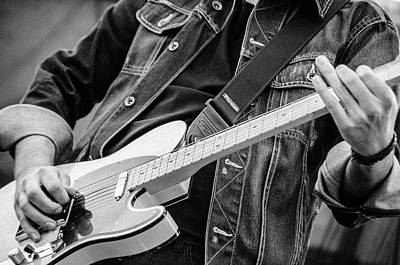 Photograph - Fender Telecaster On Stage 3 by Andrea Mazzocchetti