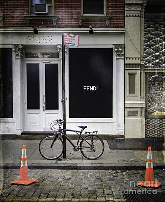 Photograph - Fendi Bicycle by Craig J Satterlee