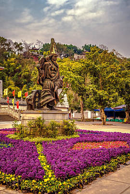 Photograph - Fengdu Main Square by Maria Coulson