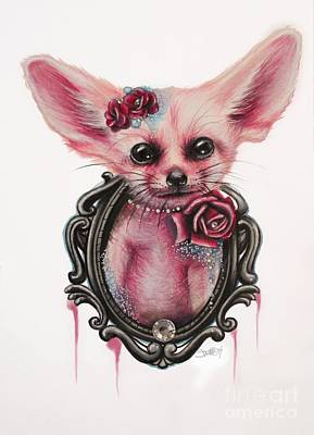 Drawing - Fennec Fox by Sheena Pike